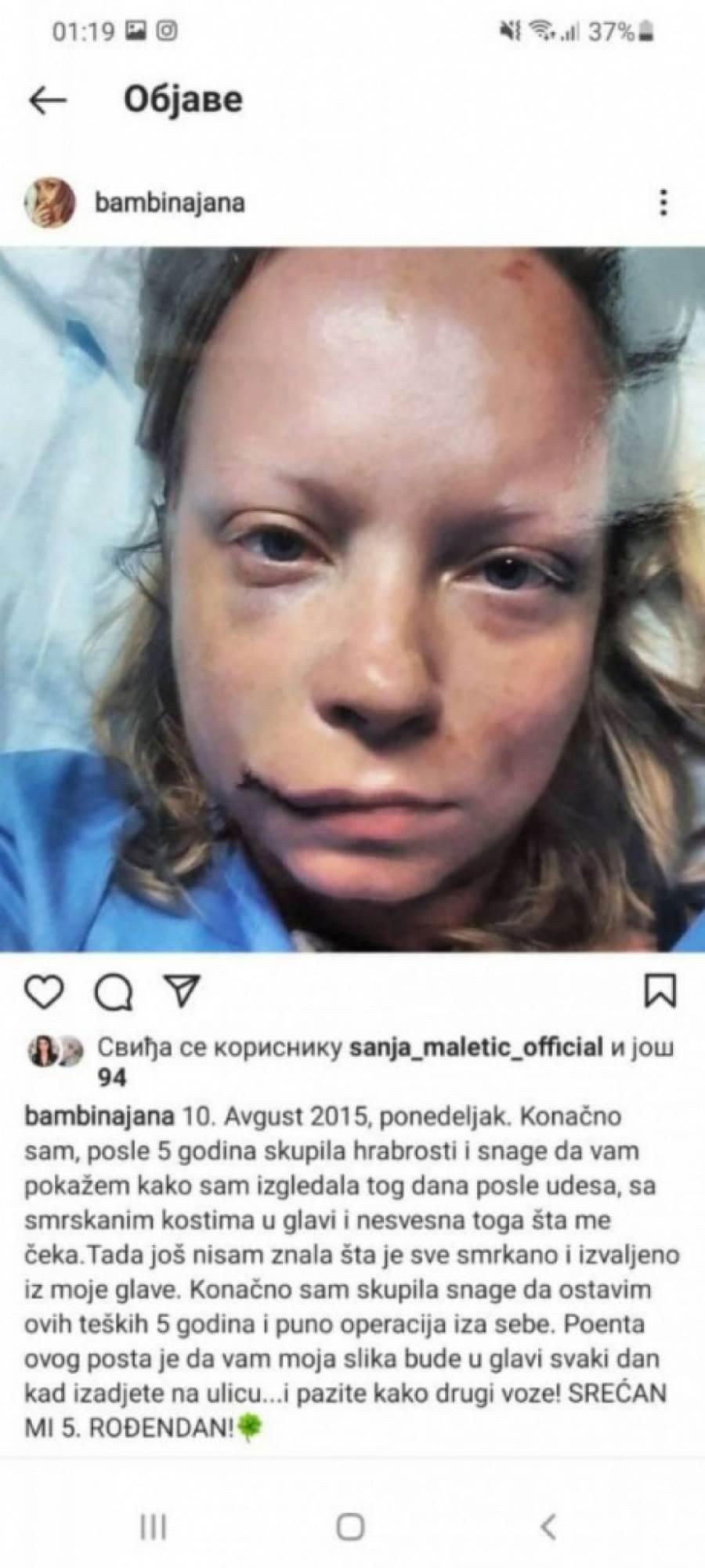 Ćerka Radmile Živković objavila fotografije nakon udesa
