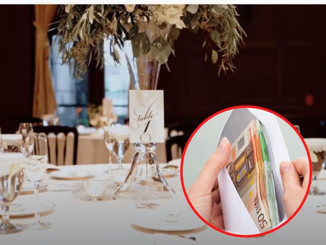 svadba novac koverat