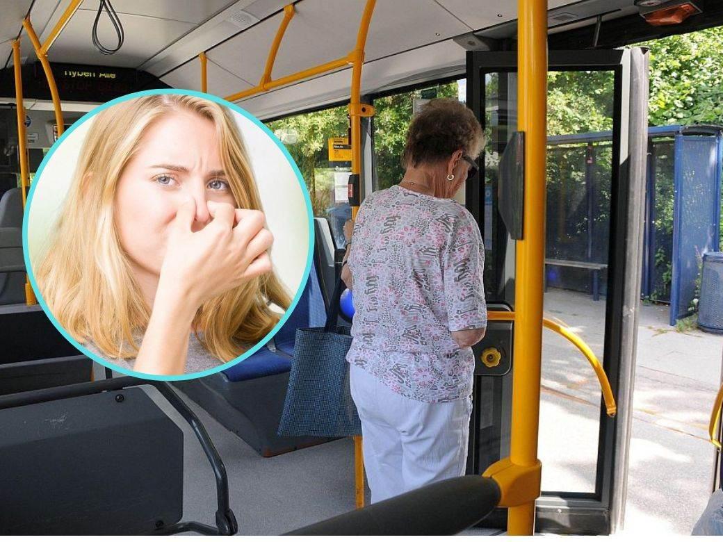 zena u autobusu gasovi