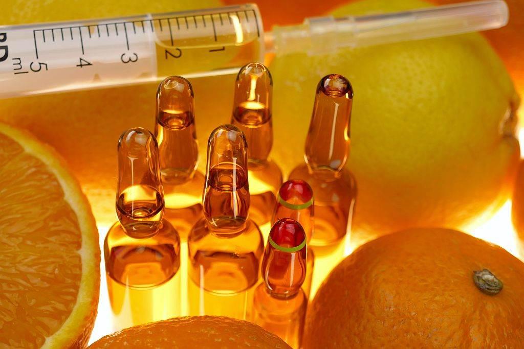 Vitamin C, Ampule, Injekcija