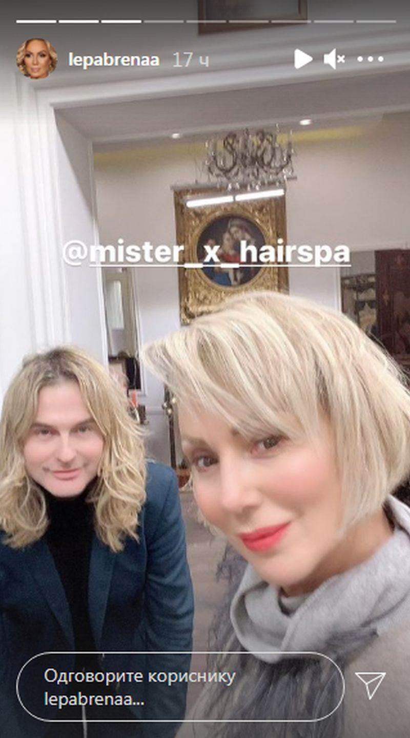 lepa brena nova frizura