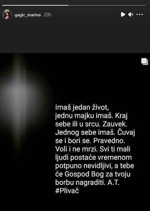 poruka Marine Gagić citat