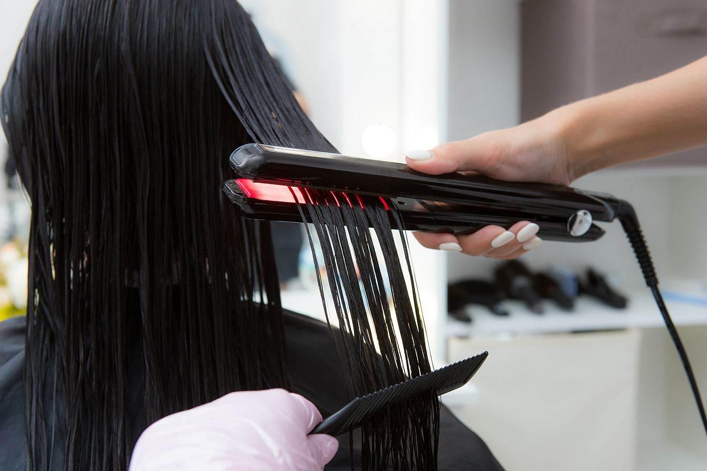 keratin peglanje kose