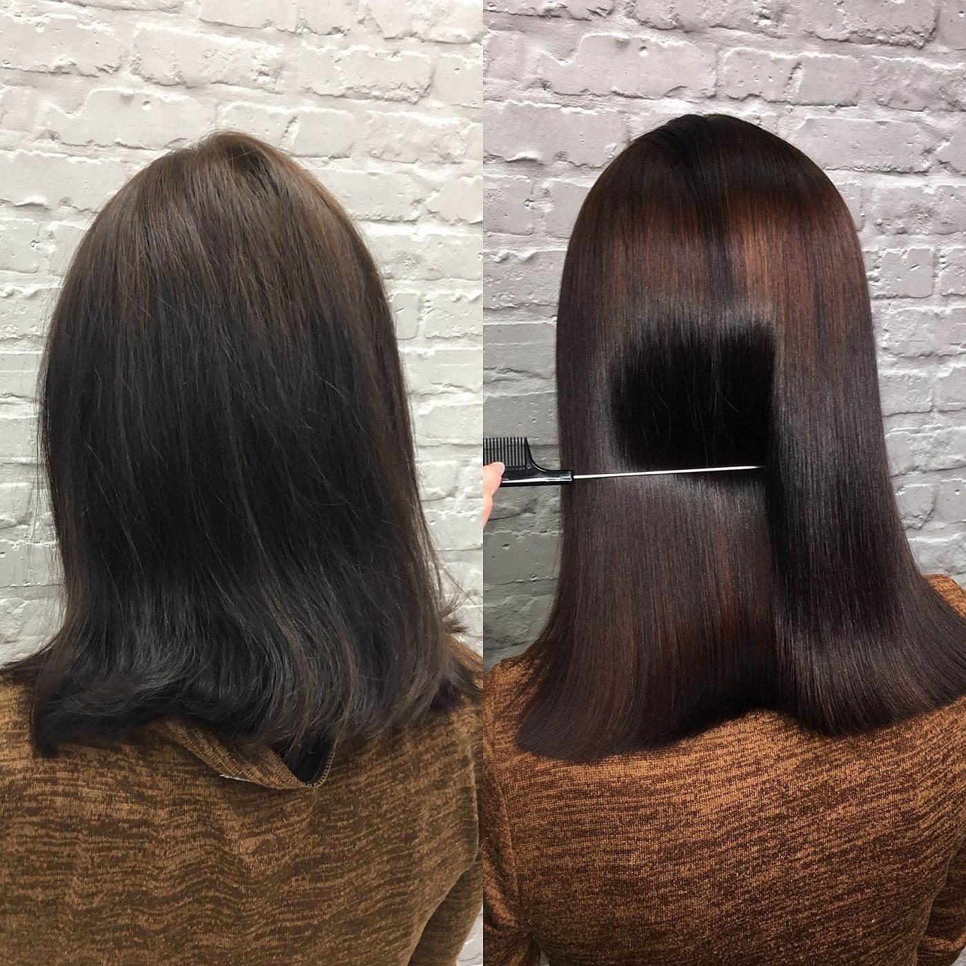 keratin ispravljanje kose pre i posle